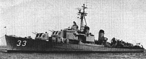 USS Gwin (DM-33) - USS Gwin in the mid-1950s.