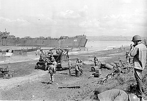 USS LST-469 during the landing at Lingayen Gulf on 9 January 1945