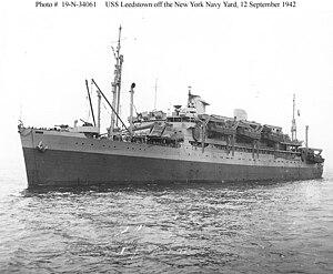 USS Leedstown (AP-73) - Image: USS Leedstown (AP 73)