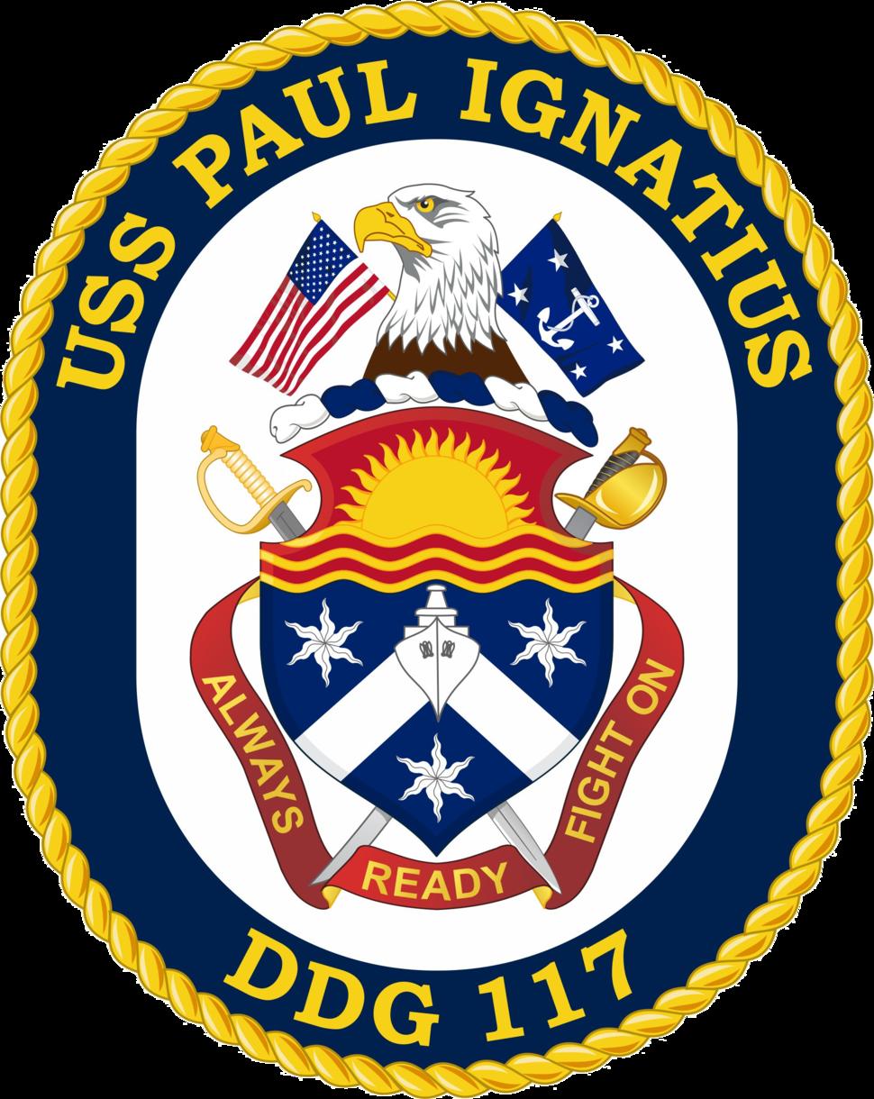 USS Paul Ignatius DDG-117 Crest