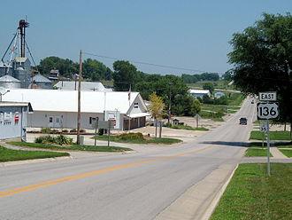 U.S. Route 136 - US 136 runs east in Rock Port, Missouri