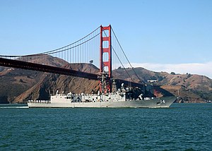 USS Sides entering San Francisco Bay in 2002