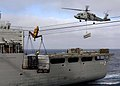 US Navy 040911-N-6817C-148 A SH-60F Seahawk assigned Helicopter Anti-Submarine Squadron Two (HS-2) delivers ordnance.jpg