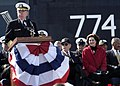 US Navy 041023-N-3527B-004 Chief of Naval Operations, Adm. Vern Clark, speaks to the crowd at the commissioning of USS Virginia (SSN 774).jpg