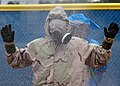 US Navy 070201-N-3019M-008 Lt. Scott Margraf, assigned to Naval Branch Health Clinic Sasebo's emergency response team (ERT), goes through a decontamination shower after a mass casualty drill as part of Exercise Keen Edge.jpg