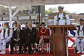 US Navy 070505-N-3642E-408 Commander, U.S. Pacific Fleet, Adm. Gary Roughhead, addresses guests at the commissioning of USS Hawaii (SSN 776).jpg