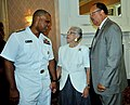 US Navy 090730-N-9268E-014 Rear Adm. Sinclair M. Harris speaks with retired Adm. J. Paul Reason and Alma Gravely.jpg