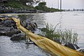 US Navy 100504-N-9643K-002 Miles of floating barriers are put in place around Mobile Bay and other sites in the Gulf of Mexico to protect the coastline from a growing oil slick approaching the area from the Deepwater Horizon oi.jpg
