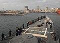 US Navy 110420-N-HI707-027 The guided-missile frigate USS Robert G. Bradley (FFG 49) arrives in Dakar, Senegal, for a port visit as part of Africa.jpg