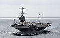 US Navy 110519-N-OI955-214 The Nimitz-class aircraft carrier USS John C. Stennis (CVN 74) is underway in the Pacific Ocean during a vertical replen.jpg