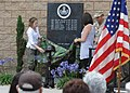 US Navy 110624-N-NW961-108 Family members unveil a memorial wall dedicated to fallen explosive ordnance disposal technicians during Explosive Ordna.jpg