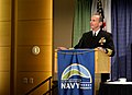 US Navy 111013-N-FC670-049 Chief of Naval Operations (CNO) Adm. Jonathan Greenert delivers the keynote remarks at the Naval Energy Forum at the Ron.jpg
