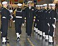 US Navy 120113-N-CM124-172 Vice Adm. Scott Van Buskirk, Chief of Naval Personnel, inspects a recruit drill platoon at a pass-in-review graduation i.jpg