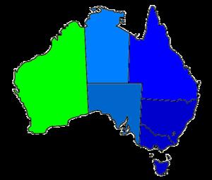 Template Time zones of Australia Wikipedia