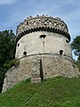 Ukraine Ostrog Castle RoundTower 02.jpg