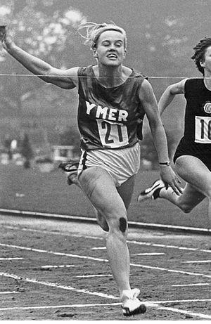 Ulla-Britt Wieslander - Wieslander winning the national 100 m title in 1965