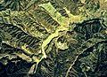 Umagami-Tameike water reservoir Aerial photograph.1976.jpg