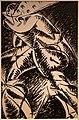 Umberto boccioni, voglio fissare le forme umane in movimento (linea unica della continuità nello spazio, bianco e nero), 1913 (cast. sforzesco) 01.jpg