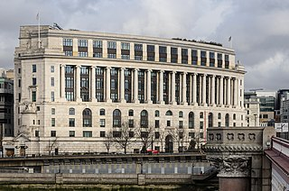 Unilever House grade II listed office building in City of London, United kingdom