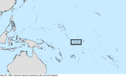Map of the change to the United States in the Pacific Ocean on May 28, 1892