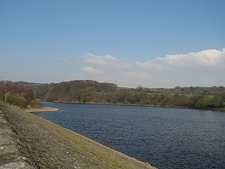 Upper Rivington Reservoir lake in the United Kingdom