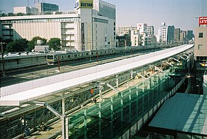 Urawa Station - Urawa Station platform 1 under construction in November 2006