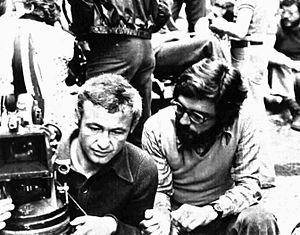 Giacomo Battiato - Giacomo Battiato (right) with cinematographer Giorgio Urbinelli