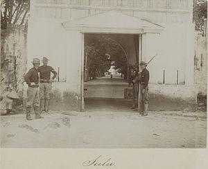 Jolo, Sulu - Gates of Jolo, circa 1899