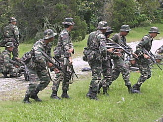 National Defence University of Malaysia - Cadet officers on exercise