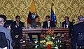 VII Encuentro Presidencial Ecuador-Venezuela. Entrega de créditos no reembolsables, suscripción de convenios y rueda de prensa (4465743219).jpg