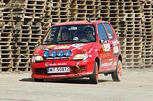 Una Seicento prima serie elaborata per l'impiego nelle competizioni rallystiche
