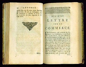 VOLTAIRE Lettre sur la Commerce Anglois 1735-10