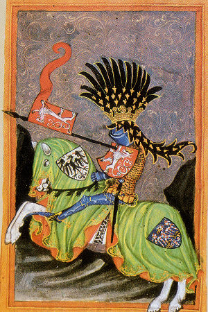 Wenceslaus I of Bohemia - Portrait of Wenceslaus in the Codex Gelnhausen (early 15th century)