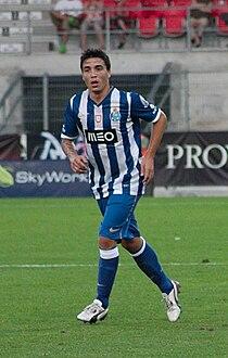 Valais Cup 2013 - OM-FC Porto 13-07-2013 - Josué Pesqueira.JPG