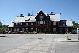 Vännäs-Jernbanestation, opført i 1891.