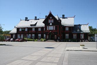 Vännäs Municipality - Vannas Railway Station