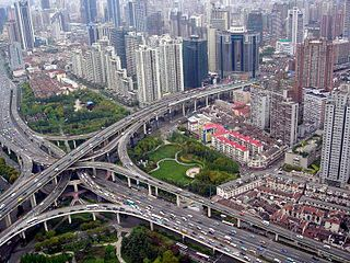 Six-level stack interchange, Puxi, Shanghai