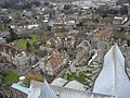 View NE from Bell Harry Tower of Canterbury Cathedral - geograph.org.uk - 139266.jpg