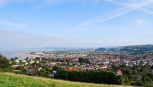 Minehead - Image: View Over Minehead From Hill