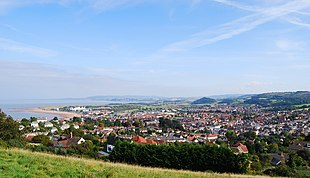 View over Minehead from the west