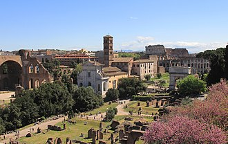 Santa Francesca Romana, Rome - View from Palatine Hill