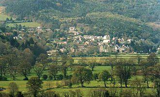 Trefriw - A view of Trefriw from across the valley, near Llanrwst