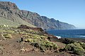 View of cliffs towards Los Gigantes from Faro de Teno (399093180).jpg
