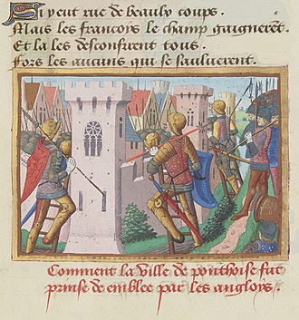 Richard of York, 3rd Duke of York - Siege of Pontoise (1441), from Vigiles du roi Charles VII