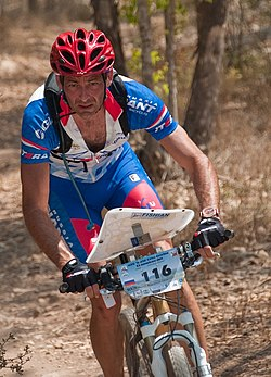 Ryska mountainbikeorienteraren Viktor Korchagin under VM 2009.