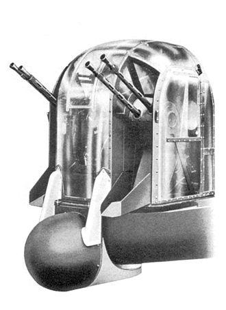 Nash & Thompson - FN-121 turret incorporating the Village Inn system, as fitted on a Lancaster.