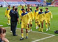Villarreal warmup, Wigan Athletic v Villarreal CF, 7 August 2011.jpg