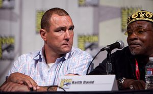 Vinnie Jones - Jones with Keith David at The Cape Panel