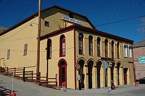 Virginia City Historic District (Virginia City, Nevada) - Image: Virginia City Pipers Opera House 1885