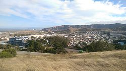 Visitacion Valley viewed from the Philosopher's Way at John McLaren Park.